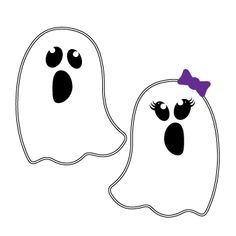 This super friendly ghost SVG file is perfect for your Halloween crafts! A girl and boy ghost SVG are included so you can craft specifically for that Halloween Stencils, Halloween Vinyl, Halloween Crafts For Kids, Halloween Ghosts, Cute Halloween, Ghost Crafts, Ghost Faces, Christmas Trends, Cute Ghost