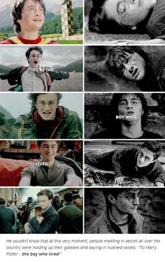 """""""I'm the boy who Lived, the boy who Lived, and what a life it's been"""" to see the full song, go to YouTube and search up """"Harry Potter Draw my Life""""."""