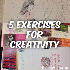 5 ways to be more creative without overwhelming yourself #creativity #journalingideas #creativeideas