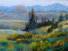 Wild West II : Colorful Colorado landscape Paintings by Tracy Haines in Oil and Pastel