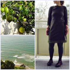 olive winter dress