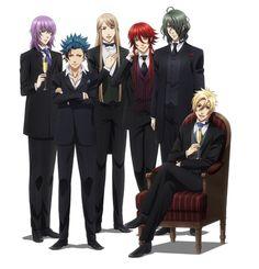 Tsukito, Takeru, Balder, Loki, Hades et Apollon - Kamigami no asobi