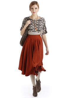 This Semicircle Skirt by Pendleton, The Portland Collection, is a hand loomed masterpiece that is tailored to perfection.