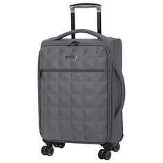 buy go explore 4 wheel small hard suitcase navy and tan. Black Bedroom Furniture Sets. Home Design Ideas