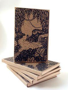 Handmade Handbound Notebook with Screenprinted Cover. $15.00, via Etsy.