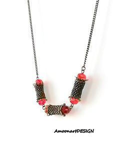Check out this item in my Etsy shop https://www.etsy.com/listing/230723683/vintage-style-red-necklace-beaded-red