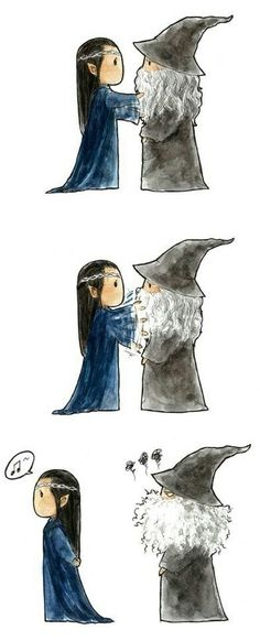 Gandalf and Elrond