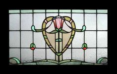 Old English stain glass window Leaded Glass Windows, Stained Glass Panels, Stained Glass Art, Mosaic Glass, Transom Windows, Stained Glass Designs, Stained Glass Projects, Art Deco Glass, Glass Wall Art