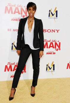 "Kelly Rowland sports short hair at the Hollywood premiere of ""Think Like a Man Too"""