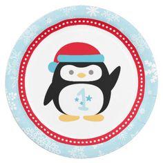 Winter ONEderland Birthday | Penguin 7 Inch Paper Plate