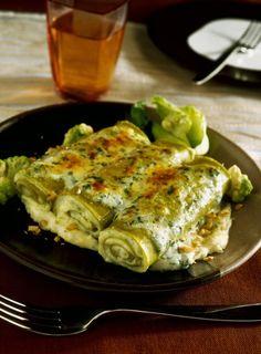 Cannelloni verdi con cavolfiore e noci