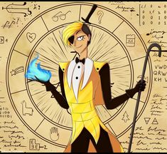 Bill Cipher by NairaSanches on DeviantArt Mystery Of Gravity Falls, Gravity Falls Funny, Bill Cipher Human, Will Cipher, Hot Fan, Pinecest, Mabill, Bipper, Reverse Falls