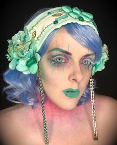 Teal Princess look created by @binxy20, Bangbangbetty1 on Instagram! She used products including our Everything Shadows in Harajuku and Tokyo Rose! This look also features a beautifully embellished headdress by Regalia Designs! #EspionageCosmetics #NerdMakeup #CrueltyFree #mua #lotd #nma #MakeupLook
