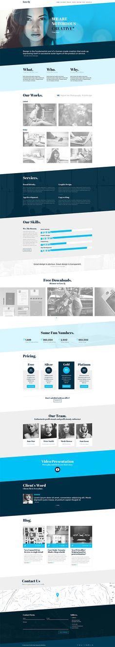 Love.ly - Simple & Elegant WordPress theme on Behance