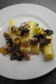 Ziti Pastificio Dei Campi con funghi, pancetta affumicata, noci ed un pò di mascarpone