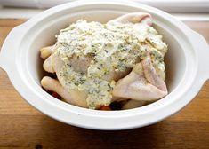 crockpot Whole Chicken & Veggies - stick in broiler when done to crisp - genius!