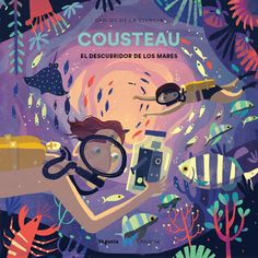 "So excited to share a sneak peak of ""Cousteau"", a picture book biography of French explorer and ""discoverer of the seas"" Jacques Cousteau,… Jacques Cousteau, Children's Book Illustration, Character Illustration, Book Illustrations, Cartoon Books, Children's Picture Books, Book Cover Design, Book Art, Inspiration"