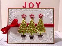 Peanuts and Peppers Papercrafting: Try It Thursday - Stampin' Up! Festival of Trees Christmas Card and Tutorial