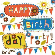 Verjaardagskaart, gemaakt door Geertje Burgers.