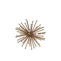 Medium Sea Urchin Ornamental Sculpture Decor - Gold - Benzara