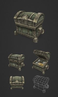Treasure Chest Small by ~bitgem on deviantART