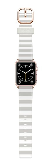 Casetify Apple Watch Band (38mm) Casetify Band - Gray Stripes by Allyson Johnson #Casetify