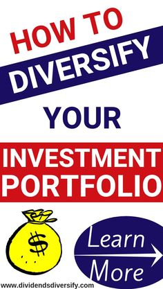 Investment portfolio diversification is an important investing tip and one key to investing money wisely and investing money for passive inc. Investment Portfolio, Investment Advice, Investment Companies, Investing In Stocks, Investing Money, Stock Investing, Money Tips, Money Saving Tips, Money Hacks