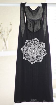 Henna Flower Women's Yoga Tank Women's Tank Yoga by ArimaDesigns