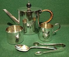 Silver Plated Batchelor Tea Set Teapot By Goldsmiths & Silversmiths Co Regent Tea Set, Silver Plate, Ebay, Silverware Tray, Tea Sets