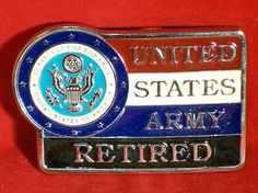 Vintage Retired Army Trophy Belt Buckle by legacyleathercraft, $19.95