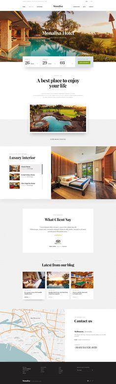 Monalisa - Premium Booking Hotel PSD Template • Download ➝…