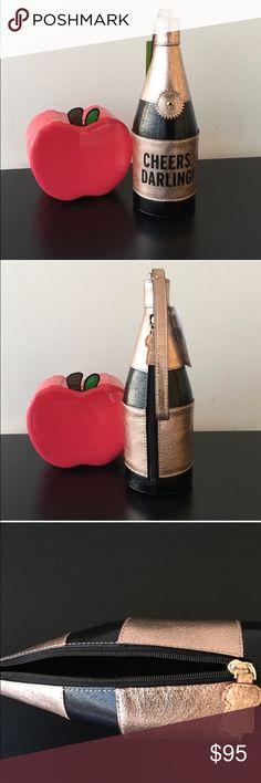 NWT 💯 Kate Spade Champagne 🍾 wristlet 💕 Brand new. No trade please kate spade Bags Clutches & Wristlets