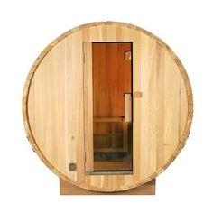 Aleko Outdoor or Indoor White Pine Wet Dry Barrel Sauna - 6 kW ETL Certified Heater - 6 Person Barrel Sauna, Traditional Saunas, Self Closing Hinges, Wooden Cradle, Steam Sauna, Dry Sauna, Wet And Dry, Furniture Styles, Interior Lighting