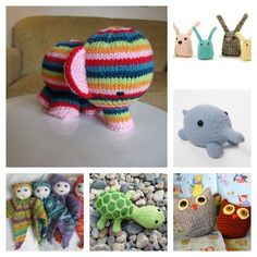 Toy knitting projects to help you bust your stash!