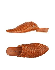 Square heel Leather lining Open toe Solid color No appliqués Leather/rubber sole Contains non-textile parts of animal origin Women's Mules, Mules Shoes, St Agni, World Of Fashion, Luxury Branding, Open Toe, Clogs, Slippers, Footwear