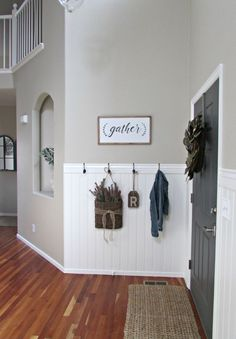 When you're SO over your boring entryway, this might be the most inexpensive way to dramatically transform it!