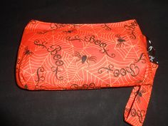 Halloween Spider Clutch- Wristlet, Recessed Zipper, Key Fob Wrist Strap, Halloween Purse, Costume, Swoon, Makeup Bag, Small Purse, Spiderweb - pinned by pin4etsy.com