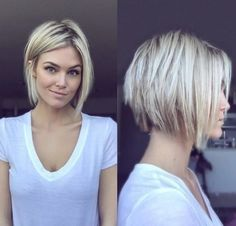 42 Best Short Bob Cuts for Get Your Haircut Inspiration Today!, Best Short Bob Cuts Relationships with short female haircuts all fold differently. Someone considers them very attractive, stylish and practical. Medium Hair Styles, Short Hair Styles, Modern Bob Haircut, Hair 2018, Short Hairstyles For Women, Hairstyles 2018, Hairstyle Short, Popular Hairstyles, 2017 Hairstyle