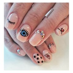 Just in case you need your back watched…evil eye nails! Just in case you need your back watched…evil eye nails! Dream Nails, Love Nails, Pretty Nails, My Nails, Gelish Nails, Shellac, Minimalist Nails, Nail Swag, Evil Eye Nails