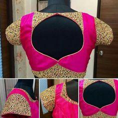 Catalogue Latest Saree Blouse Back Neck Designs 2012 Blouse Back Neck Designs, Silk Saree Blouse Designs, Fancy Blouse Designs, Sari Design, Choli Designs, Kurta Designs, Blouse Pattern Free, Blouse Patterns, Mehndi