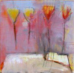 "Saatchi Art Artist Birgit  Nagengast; Painting, ""4 Flowers and Candles"" #art"