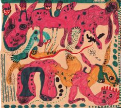 """A work done by Noviadi Angkasapura. The artist was born in Indonesia in 1979 and lives in Jakarta. 24 drawings of him are presented in the webgallery """"www.outsider-art-brut.ch"""", where about 800 works of 40 Artists can be admired."""