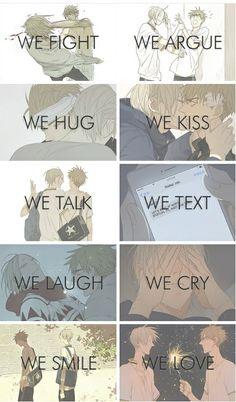 19 days   nosotros peleamos discutimos nos abrazamos nosotros besamos hablamos nosotros enviamos reimos Nosotros lloramos Sonreímos nos encanta