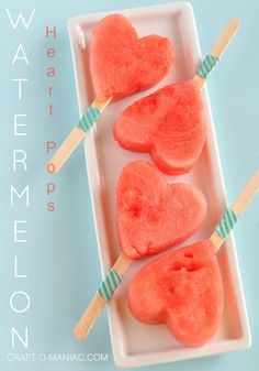 watermelon heart pops... CUTENESS!