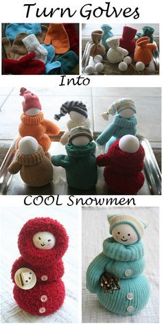 Turn Golves Into Cool Snowmen