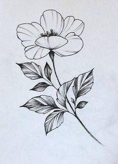 Маленький эскиз тату с цветком