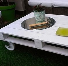 1000 images about taules palets on pinterest mesas - Mesa palets ruedas ...