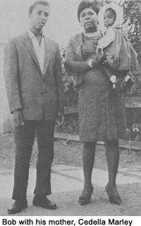Bob Marley and his mother, Cedella Booker.