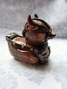 So I made a devilish ducky in my Industrial Steampunk theme. This lil guy has already sold, but I can make another!