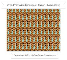 Free Landscape Brown Chevron Large Princess Jasmine Pattern Paper - Aladdin
